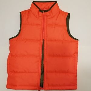 OshKosh B'gosh boys bright orange vest size 6